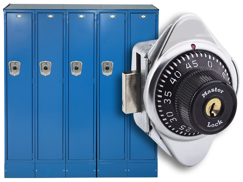 School Lockers and a Master Lock®